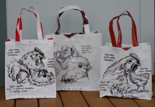GladiolaSmiles: Chicken feed sack bags.