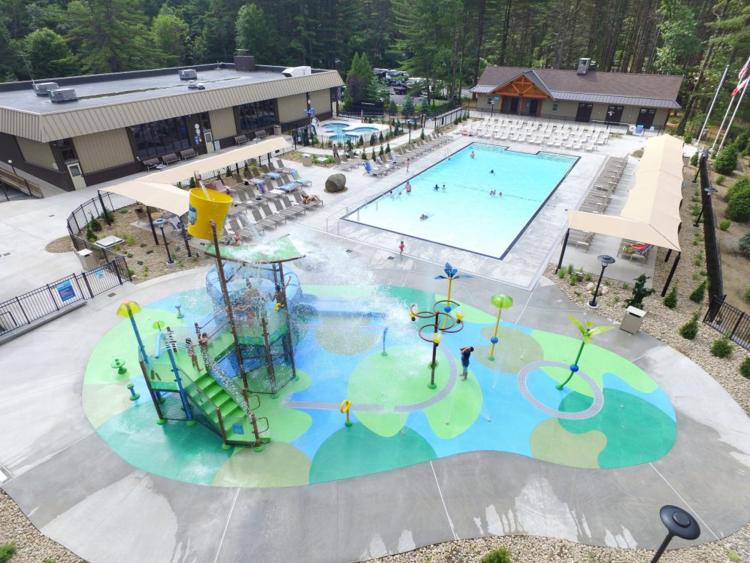 Flooring Design Themes For Aquatic Facilities Life Floor Splash Park Lake George Rv Park Splash Pad