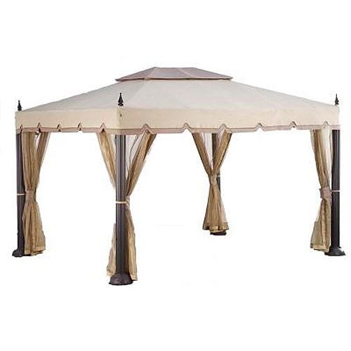 Mediterra Pacific Casual 10 X 12 Replacement Canopy Gazebo Backyard Seating Area Replacement Canopy