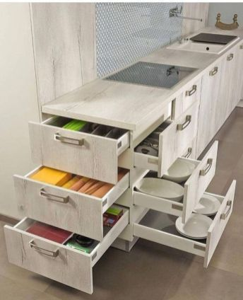 Photo of 56 Clever Way Decorate Kitchen Cabinet Organization Design Ideas –