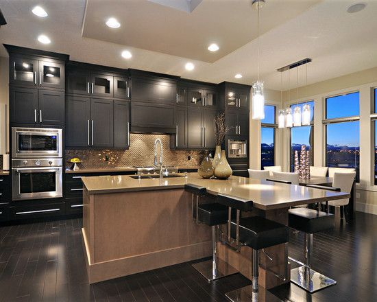 15 Awesome Black Tan Kitchen Designs Home Design Lover Kitchen Design Modern Kitchen Remodel Interior Kitchen Small