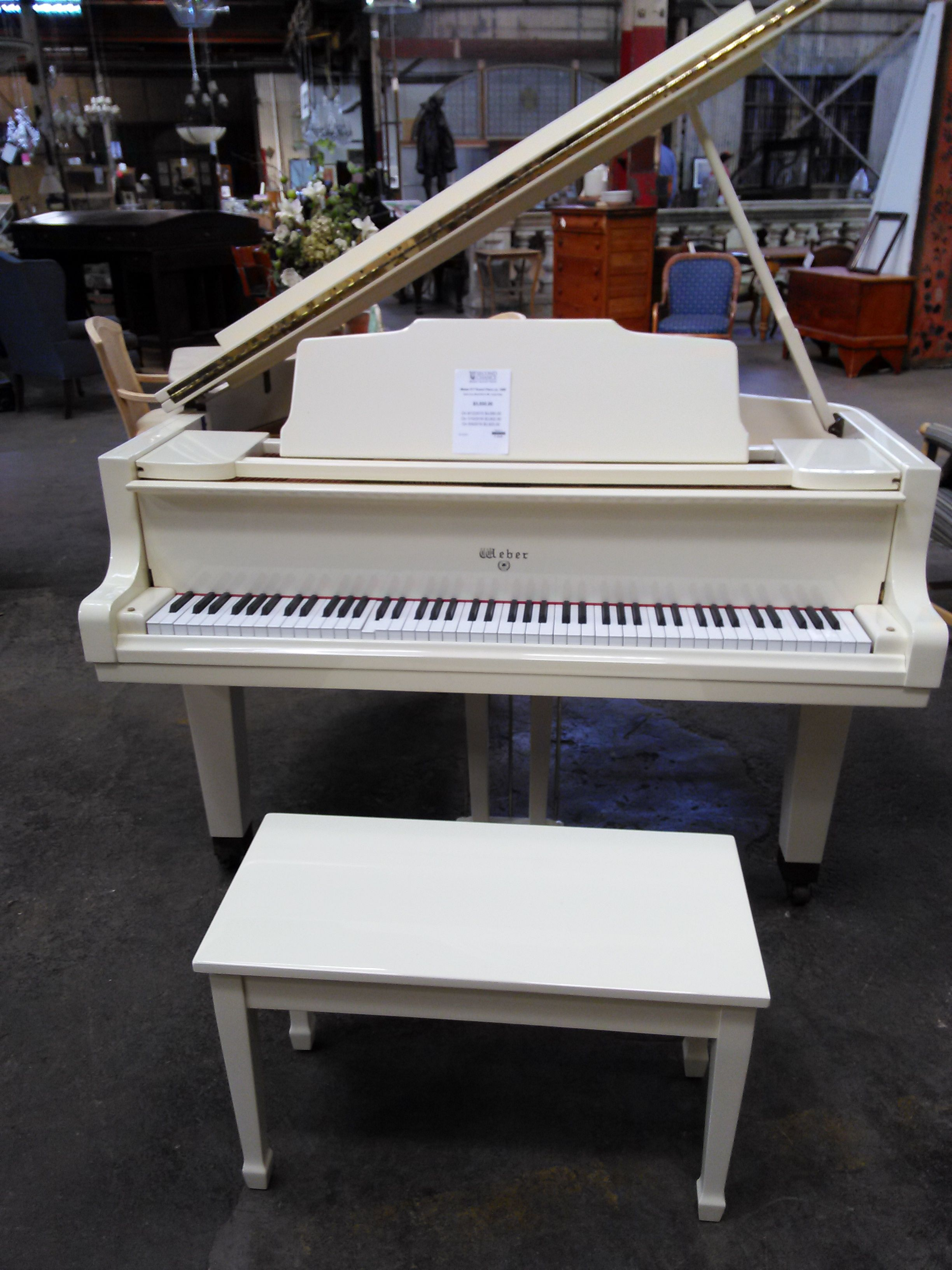 Mint Condtion Baby Grand Piano 5 1 1988 Gloss Ivory Model Wg 51 Mfr Young Chang 5 850 Baby Grand Pianos Piano Music Lovers