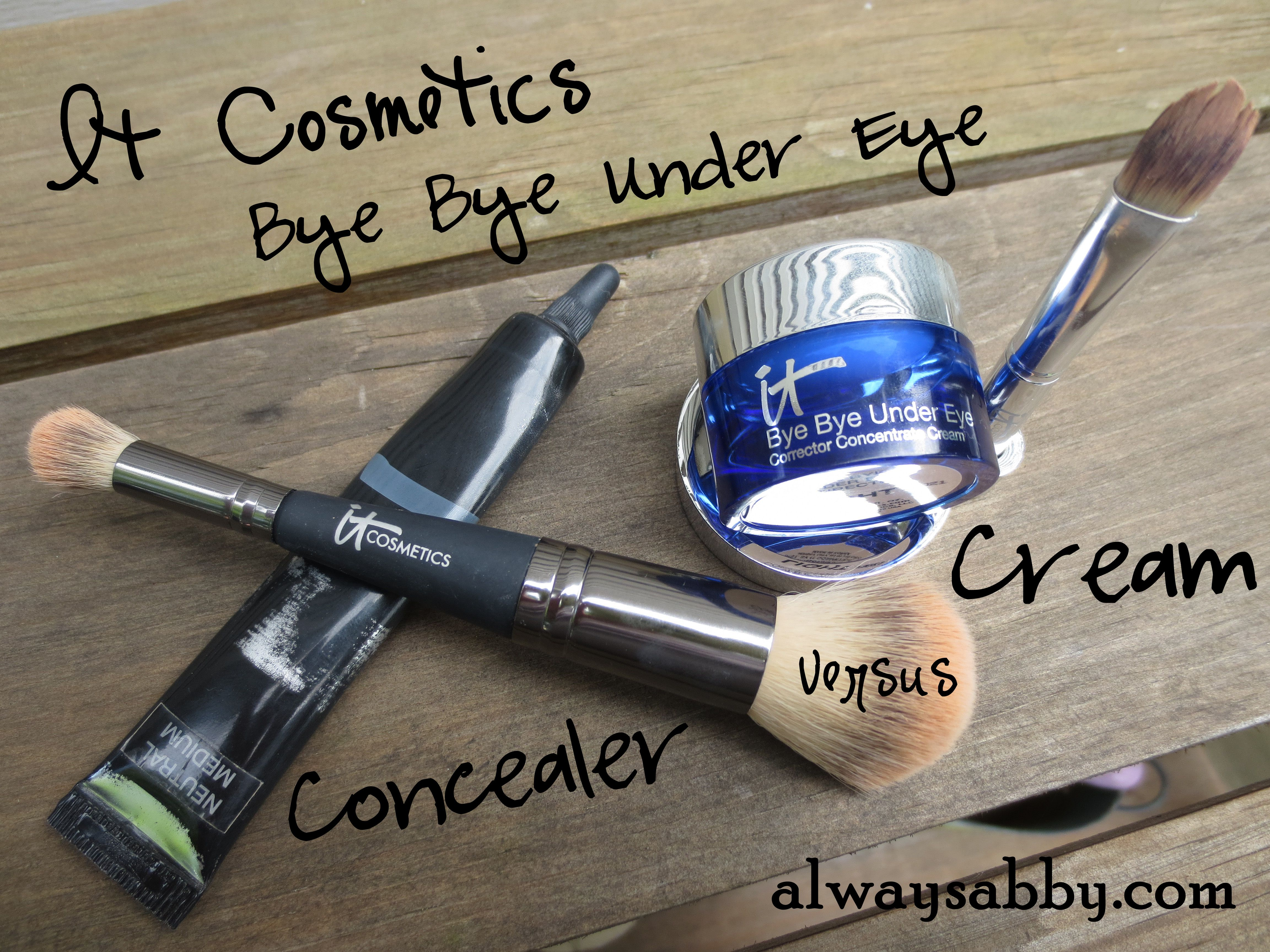 It Cosmetics Bye Bye Under Eye Concealer versus Corrector