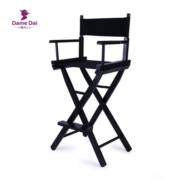 Bar Height Director Chair Natural/Black Frame with Cavans Garden - Cheap Black Furniture