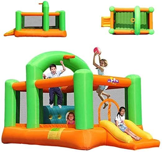 Children s Large Outdoor Playground Children s Inflatable Slide Bouncing Bed Home Naughty Castle Home Large Trampoline (Size : 430x235x245cm) Uptodate