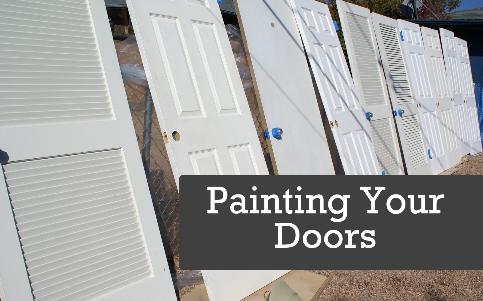 How To Spray Doors. Using A Paint Sprayer Or Airless Sprayer For Painting  Interior Wood Doors. Painting Tips And Techniques Spraying Doors Are Shown  And ...