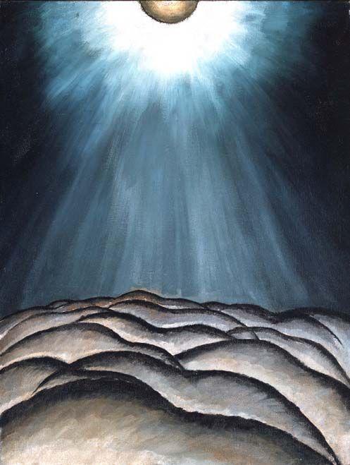Arthur Dove, Moon and Sea II, 1923, oil on canvas, via Crashingly Beautiful
