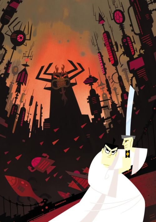 Samurai Jack. Never got to finish it. Only now do I realize how amazing this show is.