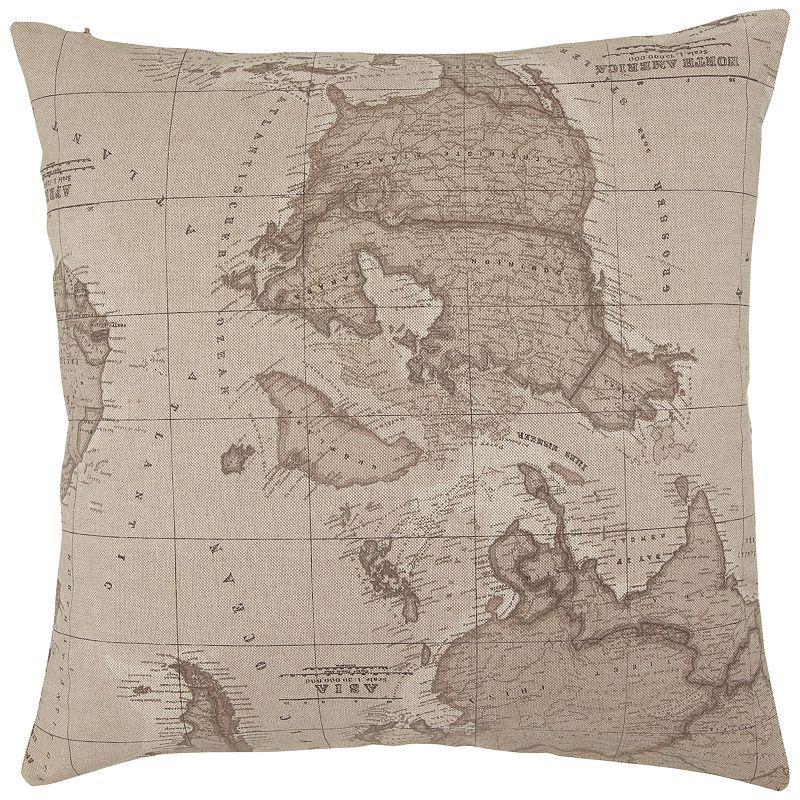 John Lewis Gift List Wedding: John Lewis Map Cushion, Sepia
