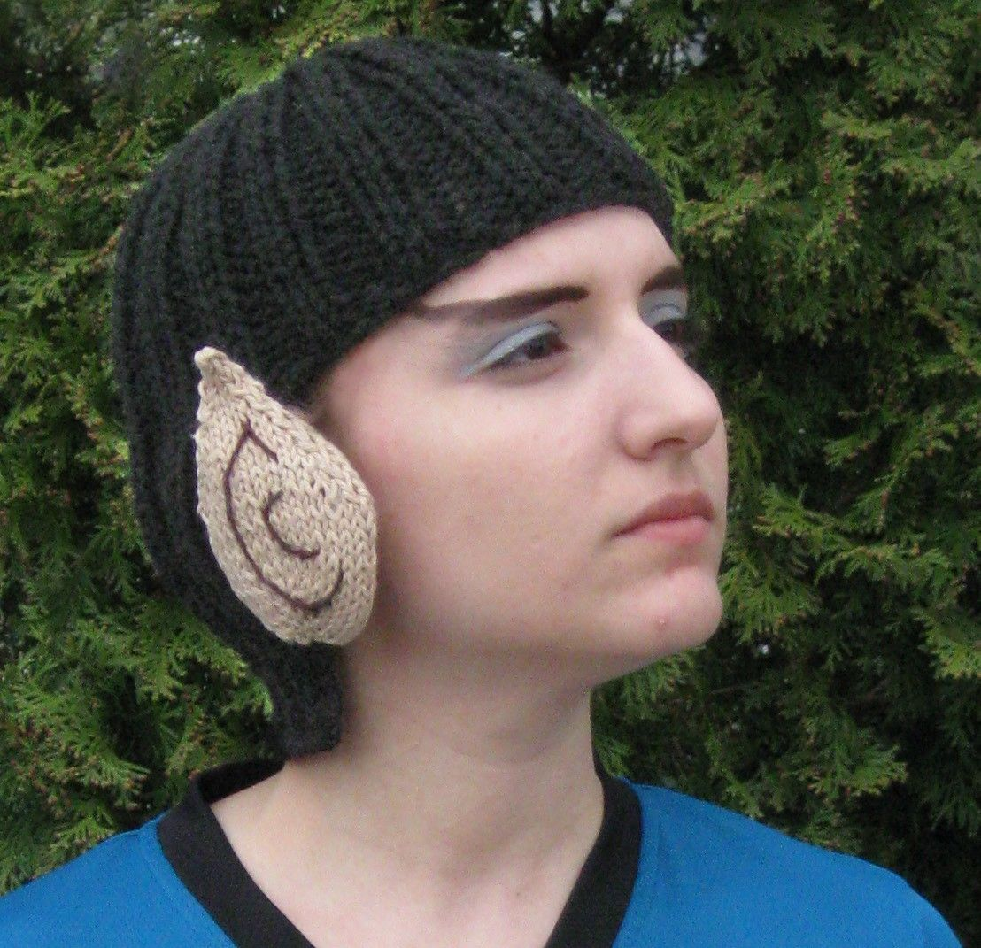 Knitted Spock Hat: How Star Trek Fans Keep Their Domes Warm ...