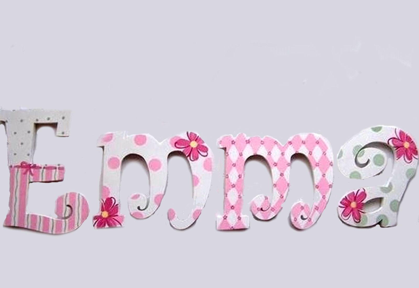 emma custom painted decorative hanging wood wall letters