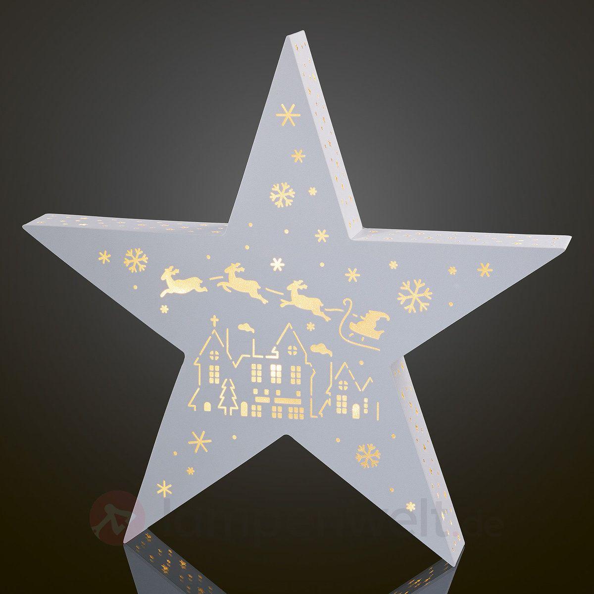 Weihnachtsbeleuchtung Schlitten.Holografie Stern Led Weihnachtsmann M Schlitten Sicher Bequem