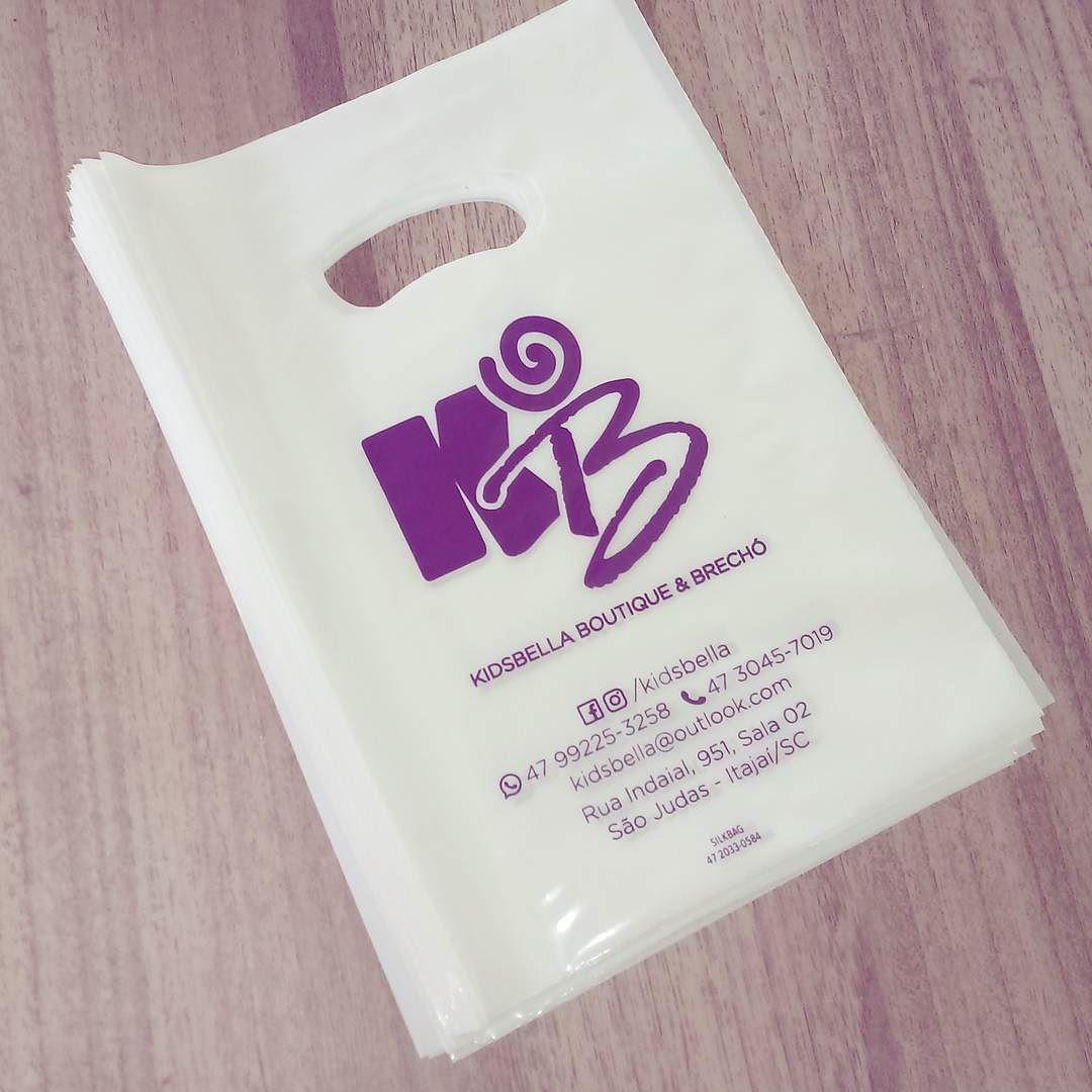 O cliente gostou agora pediu outro formato: 20x30cm das #sacolaspersonalizadas #silkbag #modainfantil #boutique #brecho