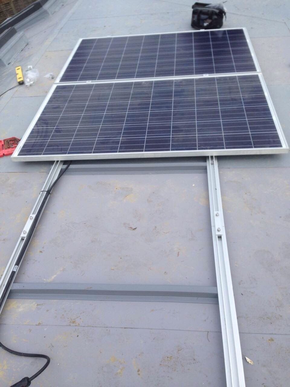 Solar Panels On Edpm Rubber Flat Roof Solar Panels Rubber Flat Roof Pv Panels