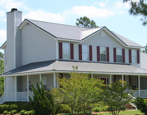 Best Gray And White House Metal Roofing Contractor Branson 640 x 480