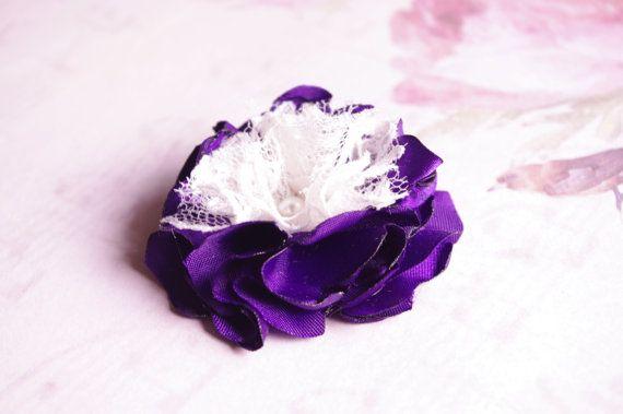 Custom purple and cream flower for Chantal by LaCharDesigns, $8.20