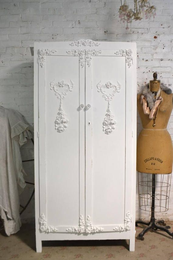 Armoire Painted Cottage Chic Shabby French Romantic Armoire AM251 ...