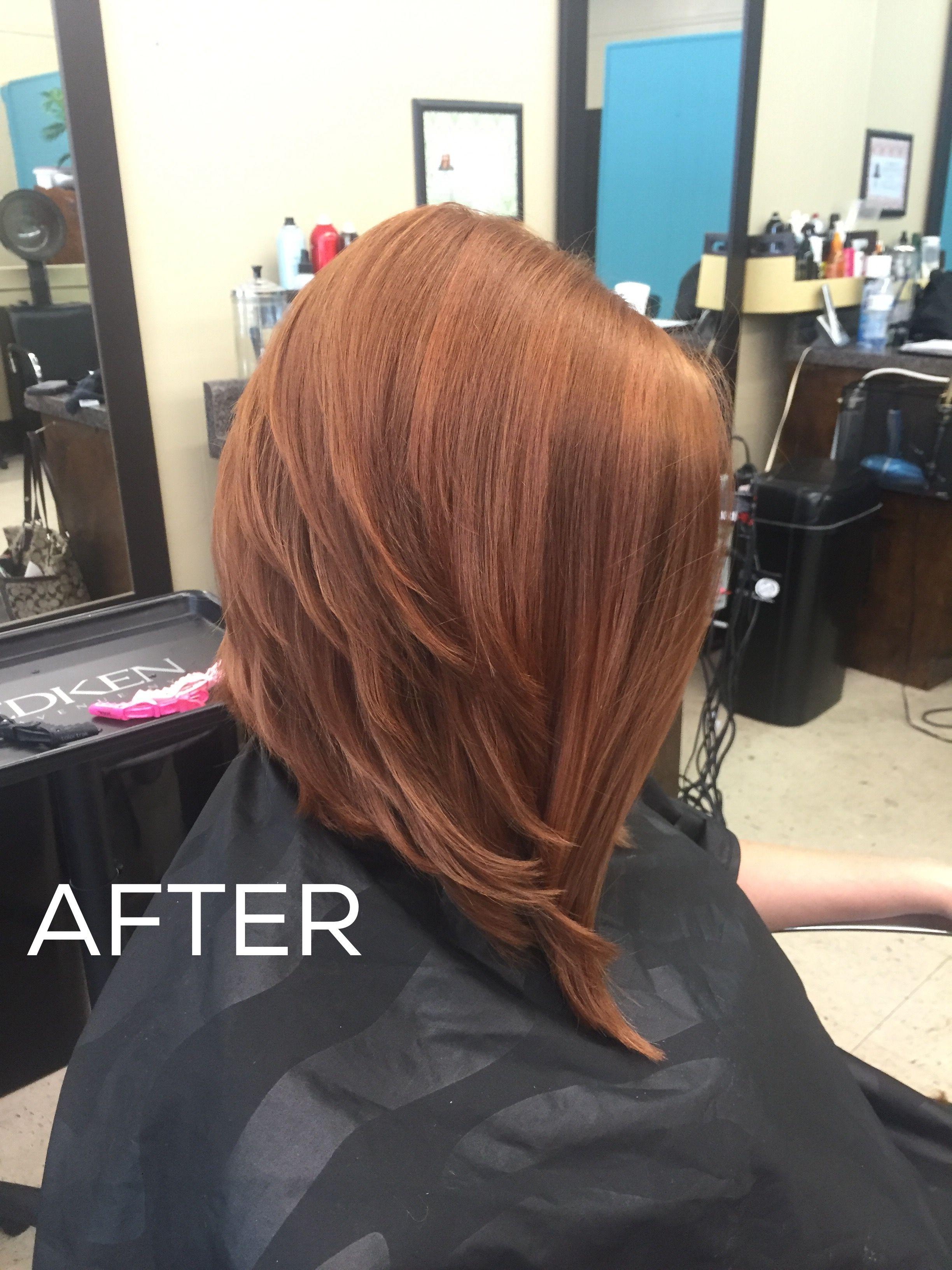 Long Graduated Bob Color 7cg 7m Matrix Matrix Hair Color Graduated Bob Hairstyles Hair Color Formulas