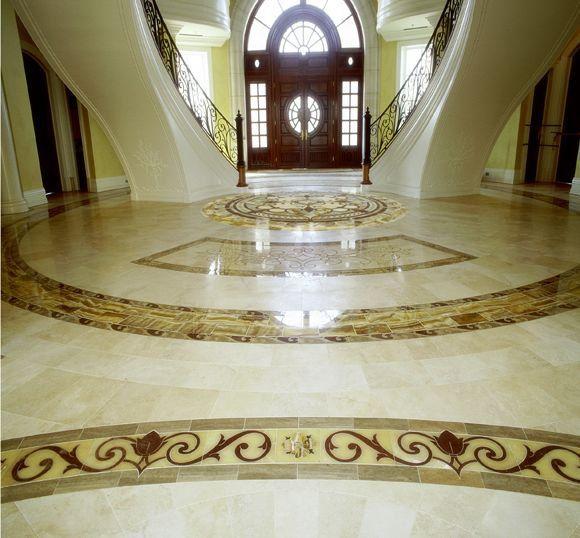 روع انواع البلاط الصيني صور أرضيات سيراميك سيراميك غرانيت رخام Marble Inlay Classic Color Palette Flooring