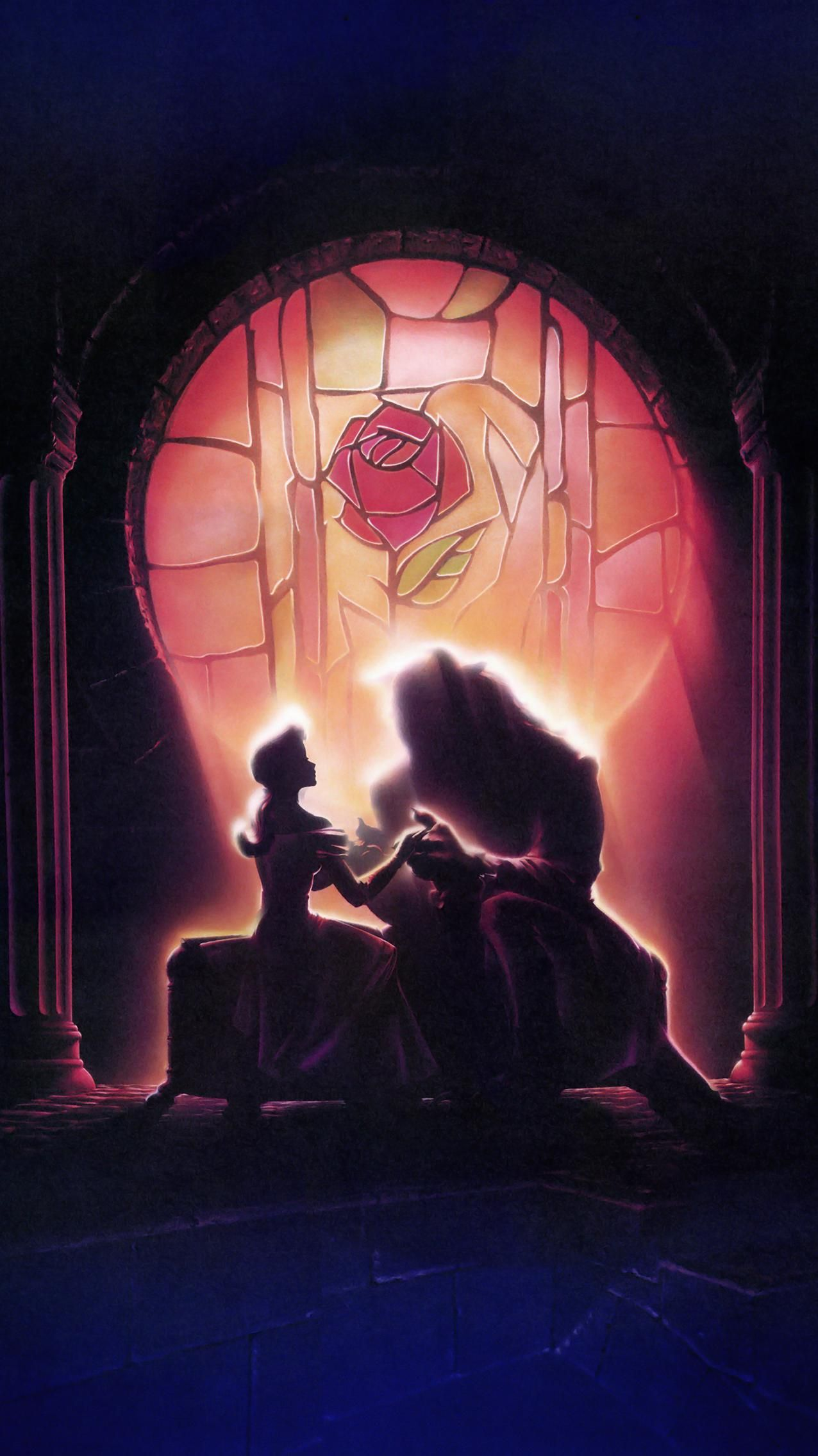Beauty And The Beast 1991 Phone Wallpaper In 2020 Disney Movie