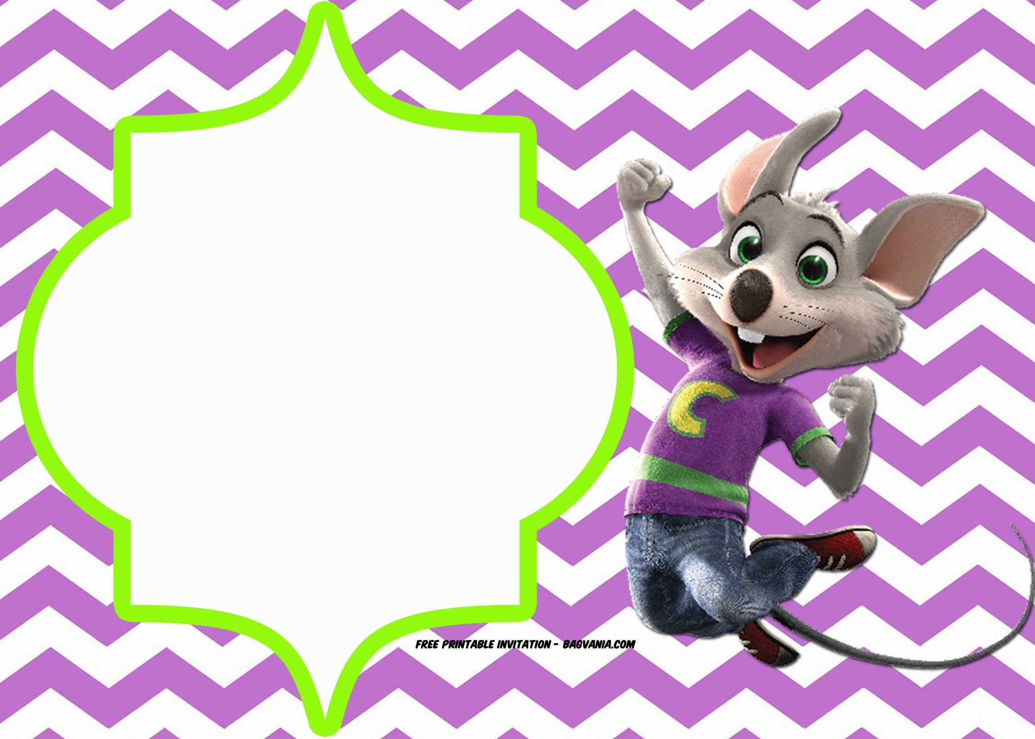 FREE Printable Chuck E Cheese Invitation