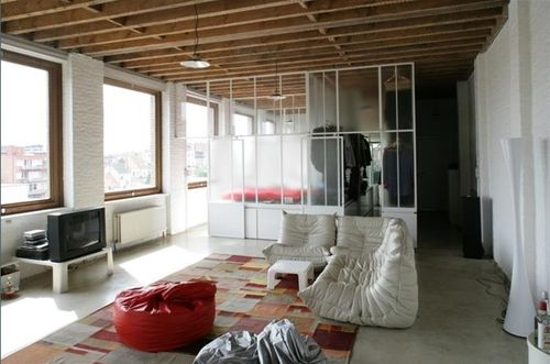 loft w glass room dividers new home room divider pinterest rh pinterest com loft style room dividers loft curtain room dividers