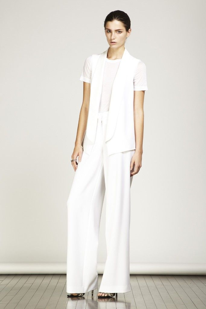 Yigal Azrouël Resort 2013 | Wedding suits, White linen skirt and ...