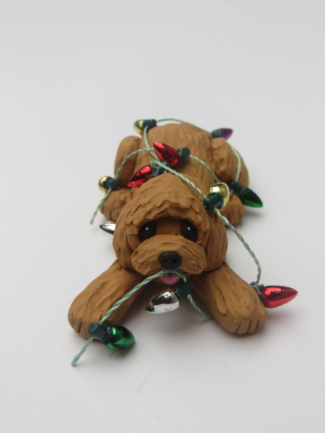 labradoodle dog christmas ornament polymer clay goldendoodle by heartofclaygirl on etsy httpswww - Goldendoodle Christmas Decorations