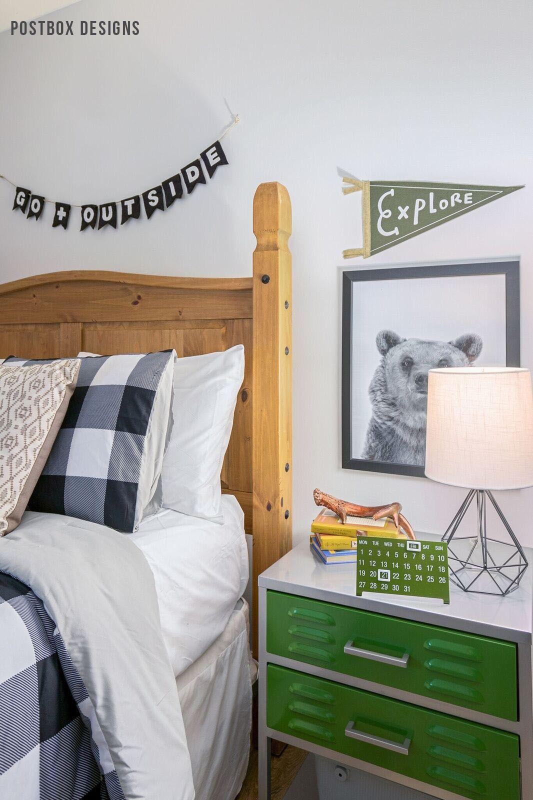 Postbox Designs Boyu0027s Adventure Bedroom Makeover