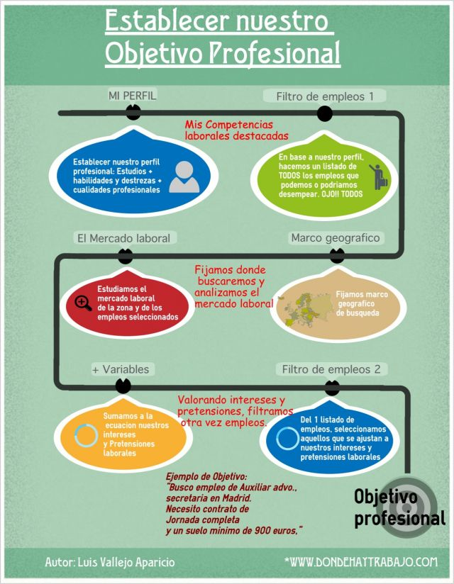 Establecer Nuestro Objetivo Profesional Infografia Infographic Busqueda De Empleo Orientacion Profesional Profesional