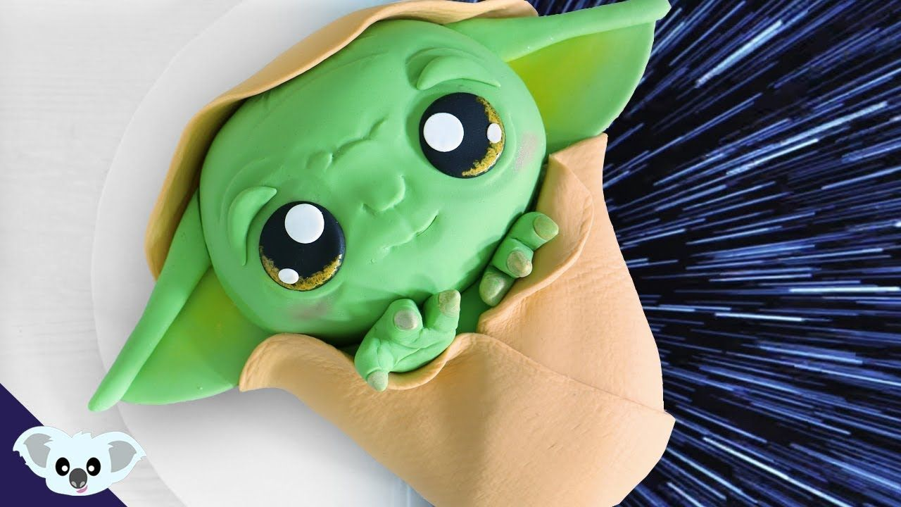 Baby yoda star wars cake birthday party cake art
