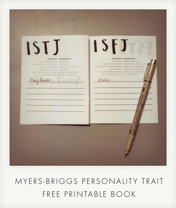 image regarding Myers Briggs Test for Students Printable known as Totally free downloadable, printable e-book toward keep track of your buddies and