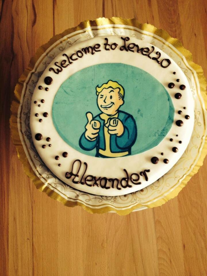20 Years Old Bday Cake Fallout Pinterest Birthday Cake And