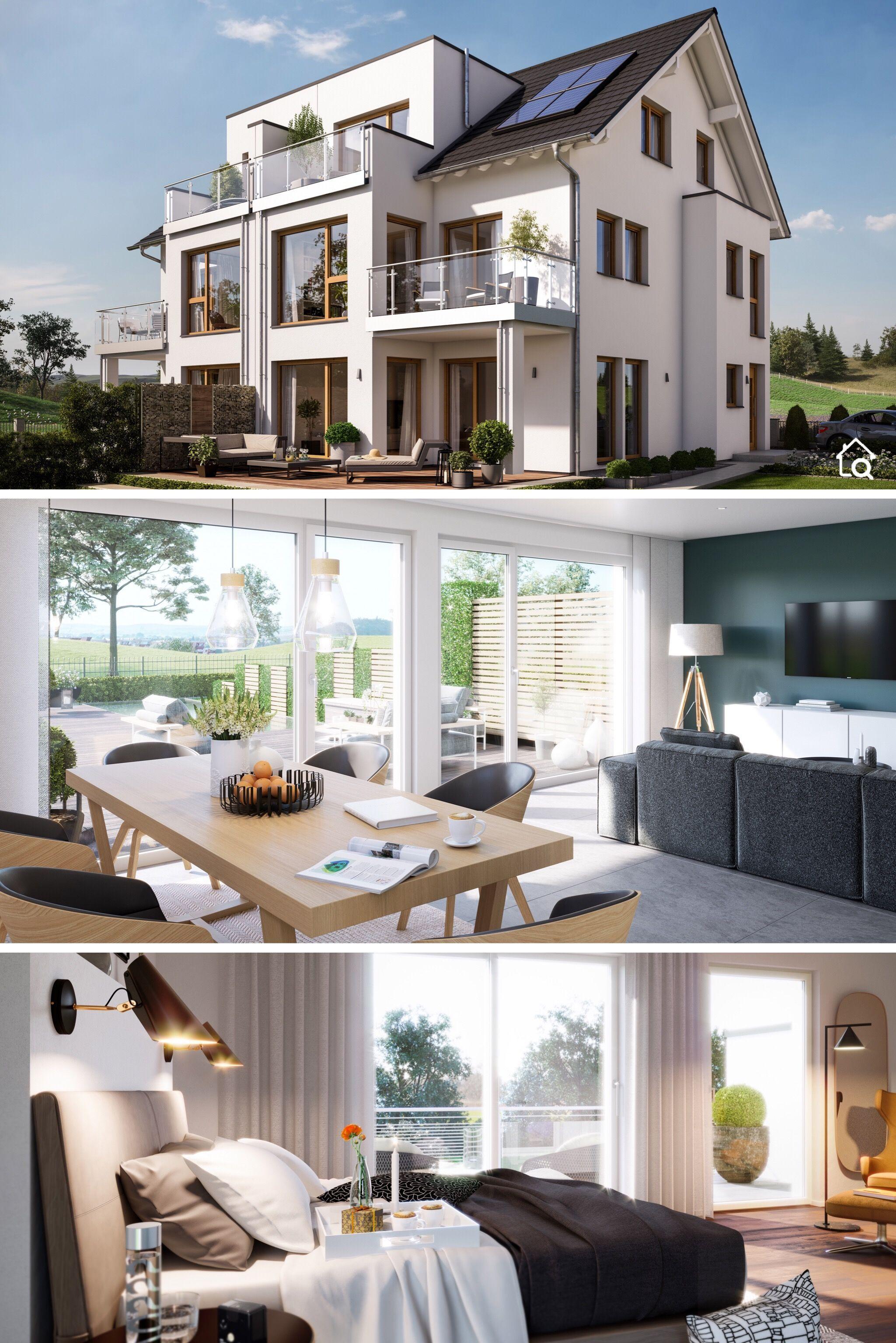 Großes Doppelhaus mit Satteldach Architektur, 7 Zimmer