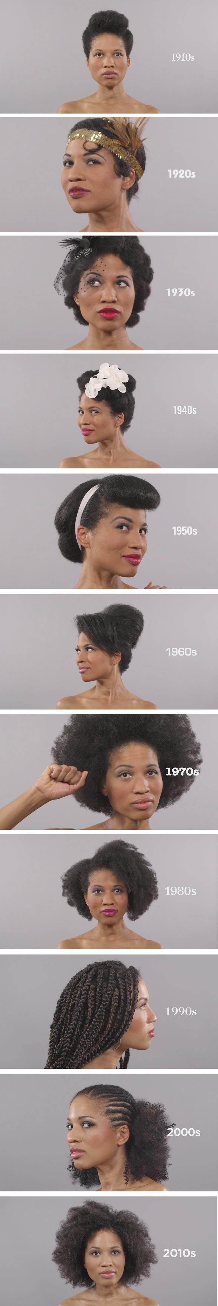 Woman demonstrates even more gorgeous styles in 100 years of beauty