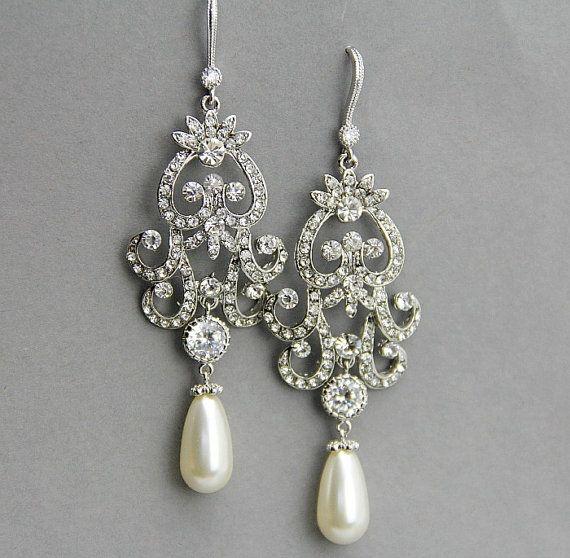 Wedding Earrings Chandelier: 17 Best images about Earrings on Pinterest | Pearl earrings, Pearls and  Victorian,Lighting
