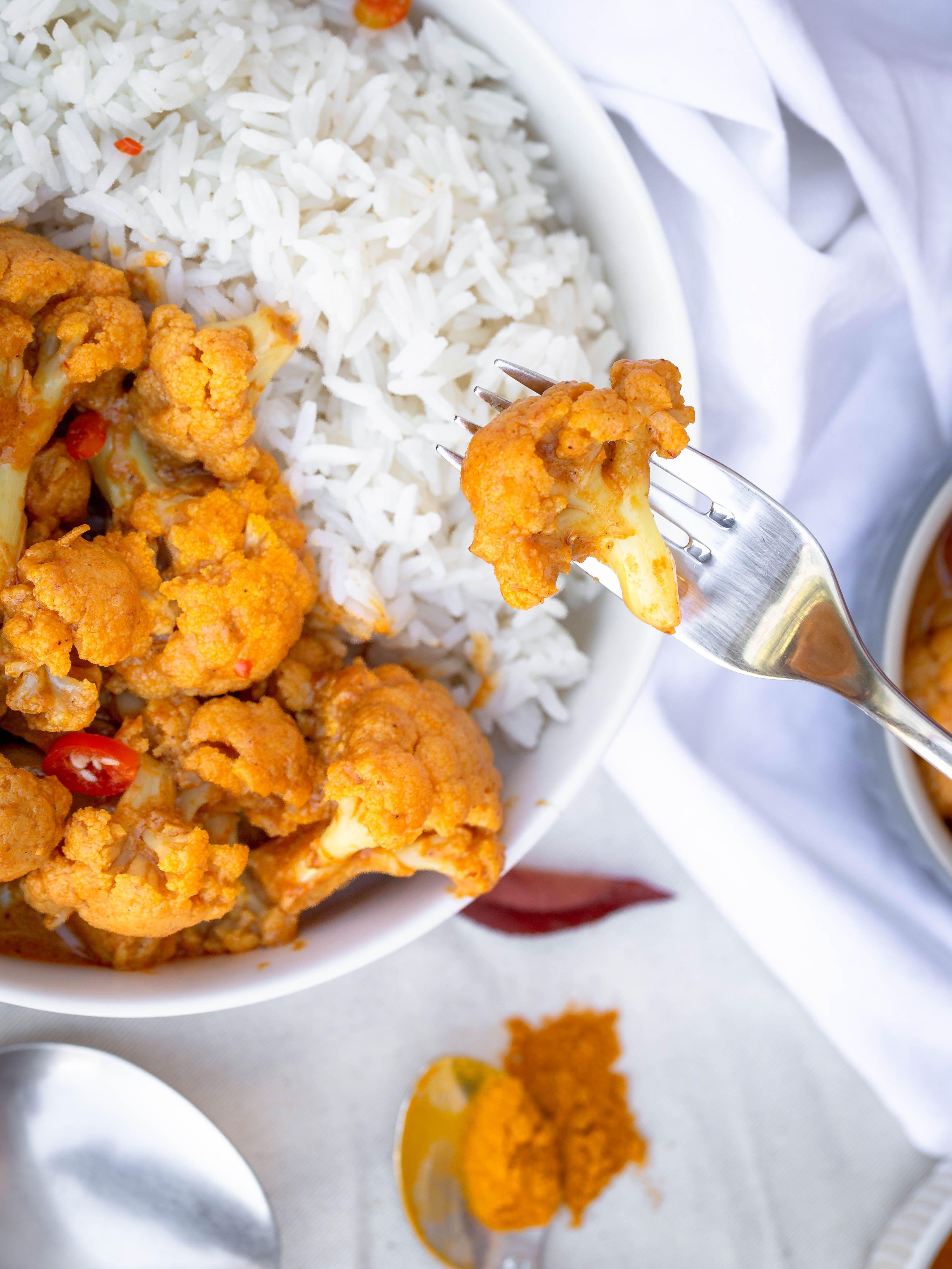 Chou Fleur crémeux au Garam Massala (Vegan et Sans Gluten) - Free The Pickle Une recette de chou f