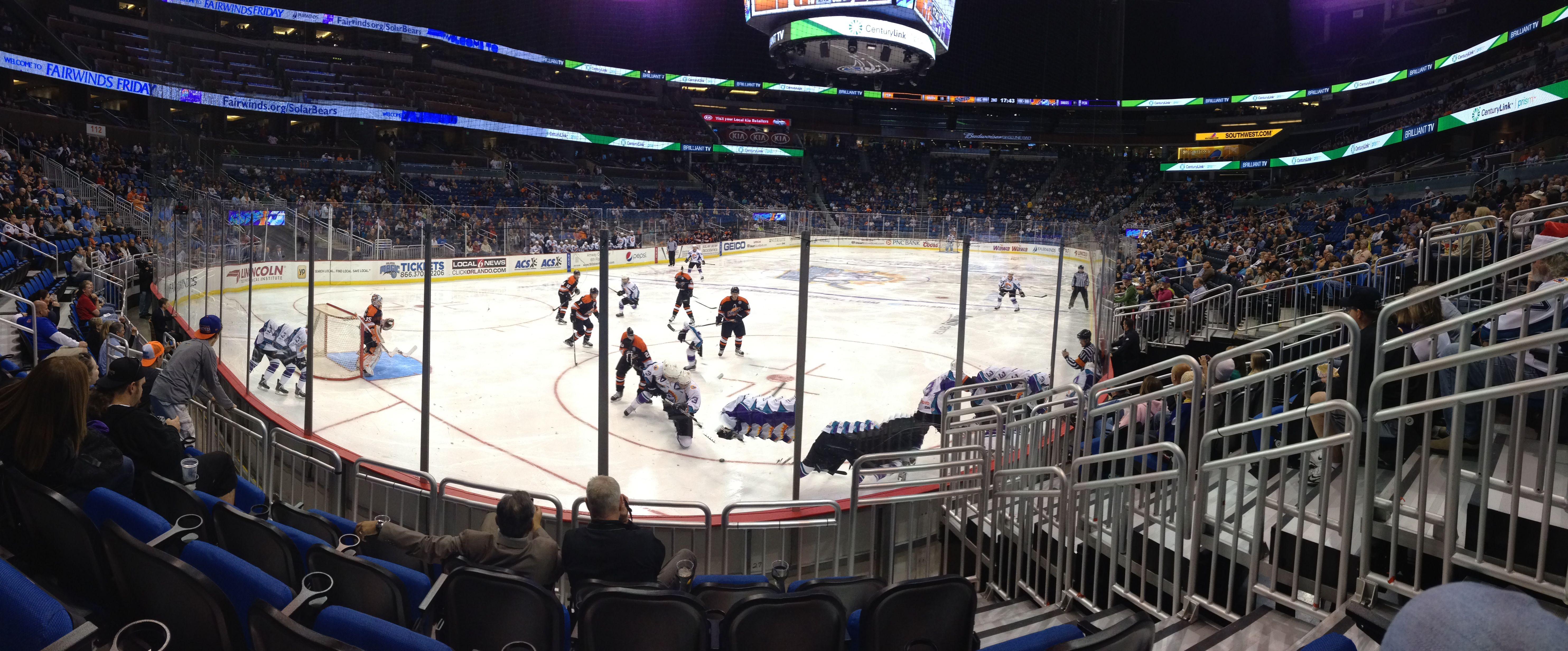 Orlando Solar Bears Hockey At Amway Arena Florida Attractions