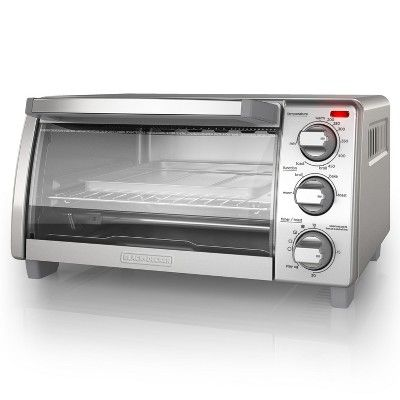 Black Decker 4 Slice Natural Convection Toaster Oven Stainless Steel To1745ssg Convection Toaster Oven Toaster Oven Stainless Steel Oven