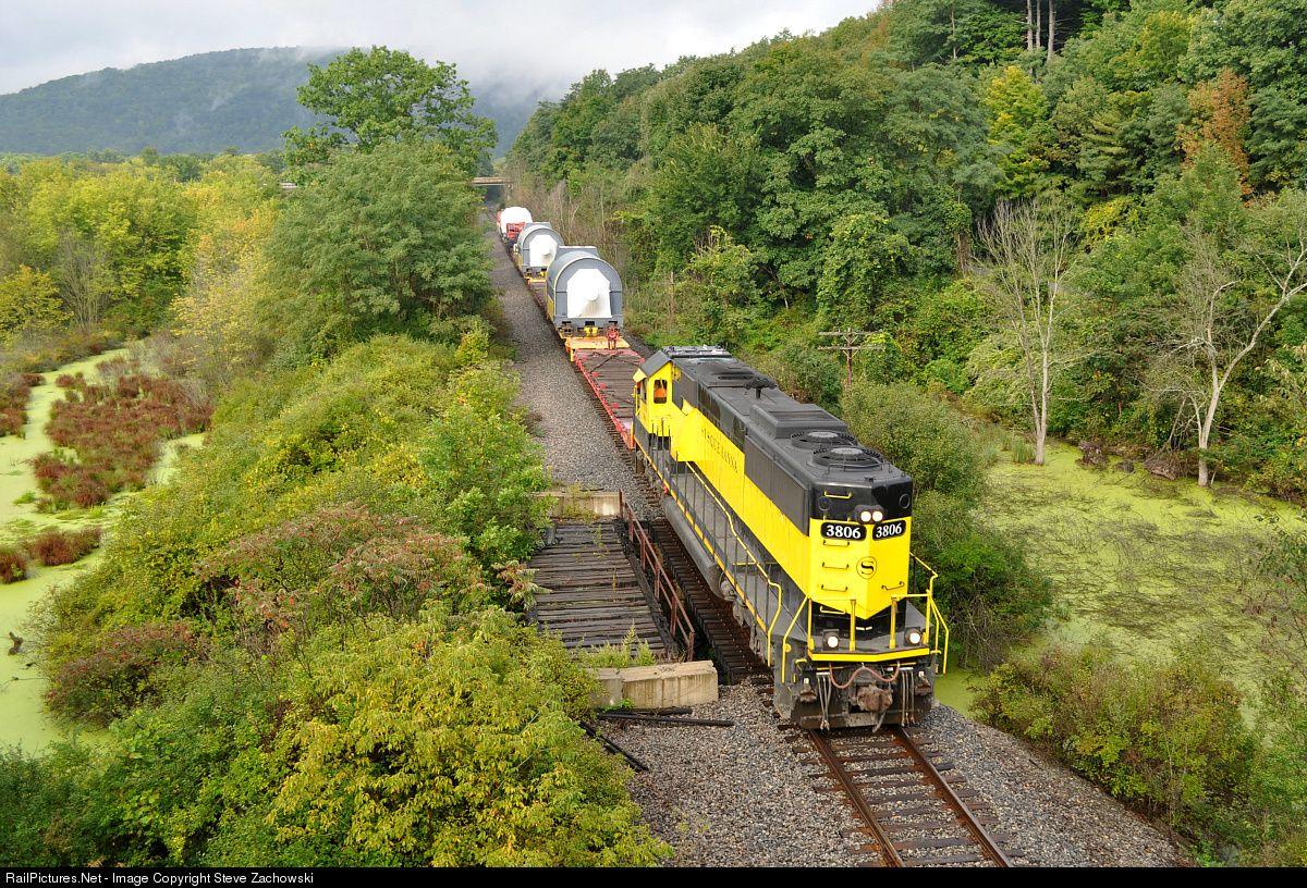 NYSW 3806 New York, Susquehanna & Western (NYS&W) EMD SD60 at Great Bend, Pennsylvania by Steve Zachowski