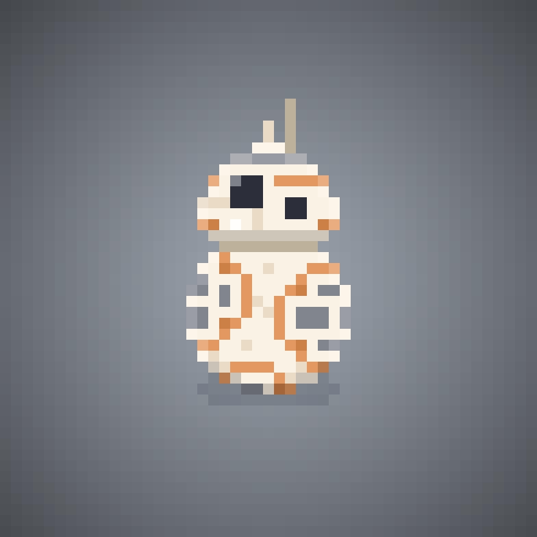 Bb 8 Star Wars Episode 7 The Force Awakens Pixel Art