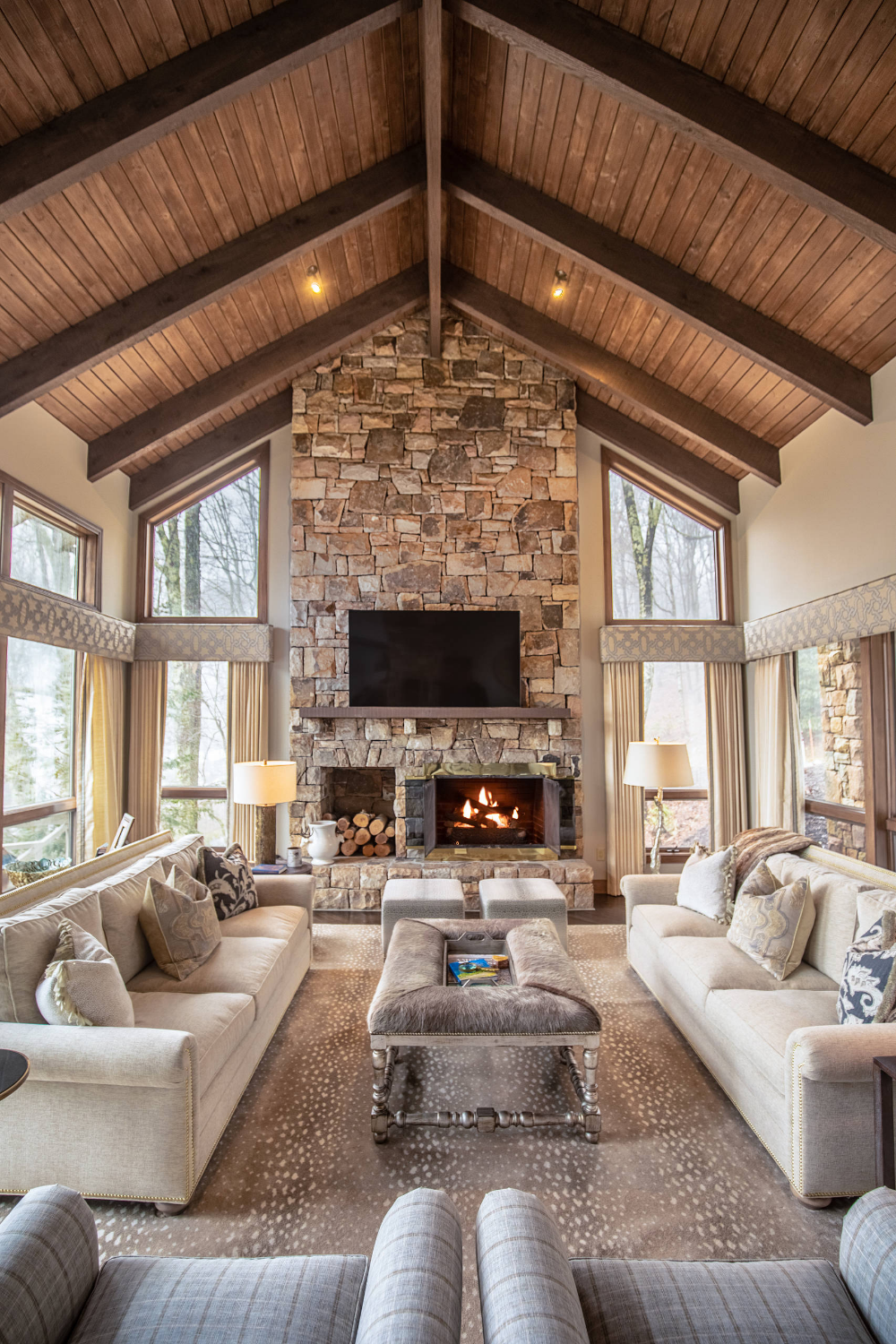 Linville Ridge Home - Rustic - Family Room - Charlotte - by Dianne Davant and Associates | Houzz