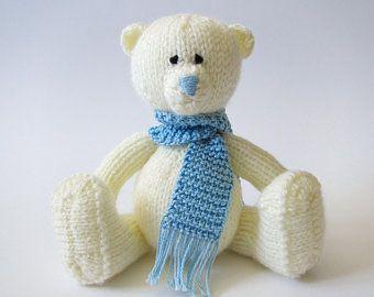 Knit Toy Teddy Bear Knitting pattern PDF Teddy Bear tutorial Teddy knit pattern Knit Bear pattern Soft toy pattern Baby Bear making pattern #babyteddybear