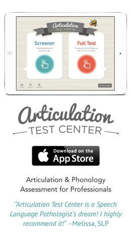 Articulation Test Center For Ipad Peds Pinterest Speech