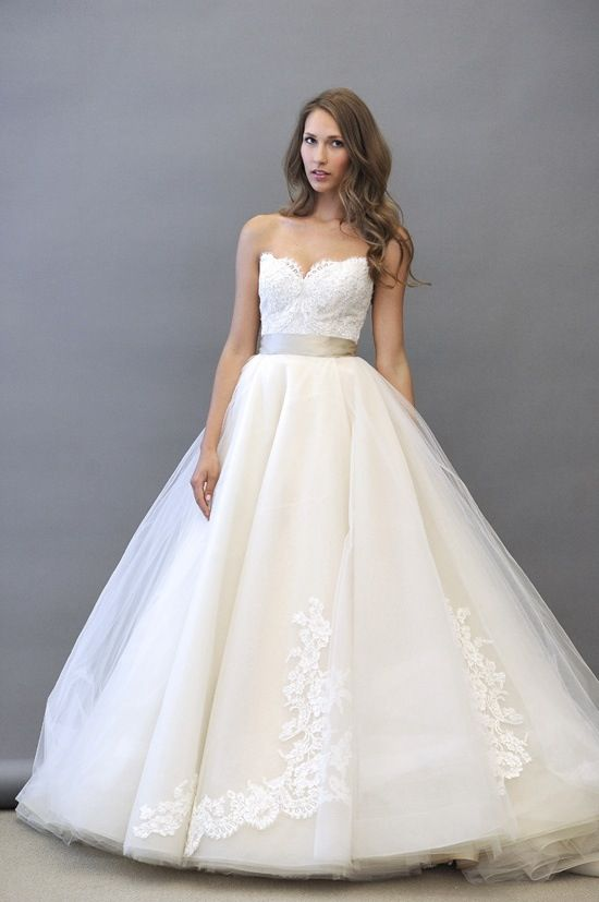 This seriously is my wedding dress. I've been obsessing over it for the past year! Finally found a picture that the dress is white.