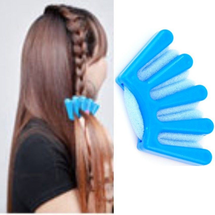 1pc Hot Twist Styling Hair Braider Braid Tool Holder Clip Diy French Stylist Sponge Plait
