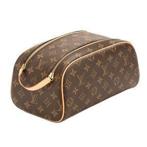 bd36d127e The ample King-size toiletry bag offered Monogram fabric and has a large,  double