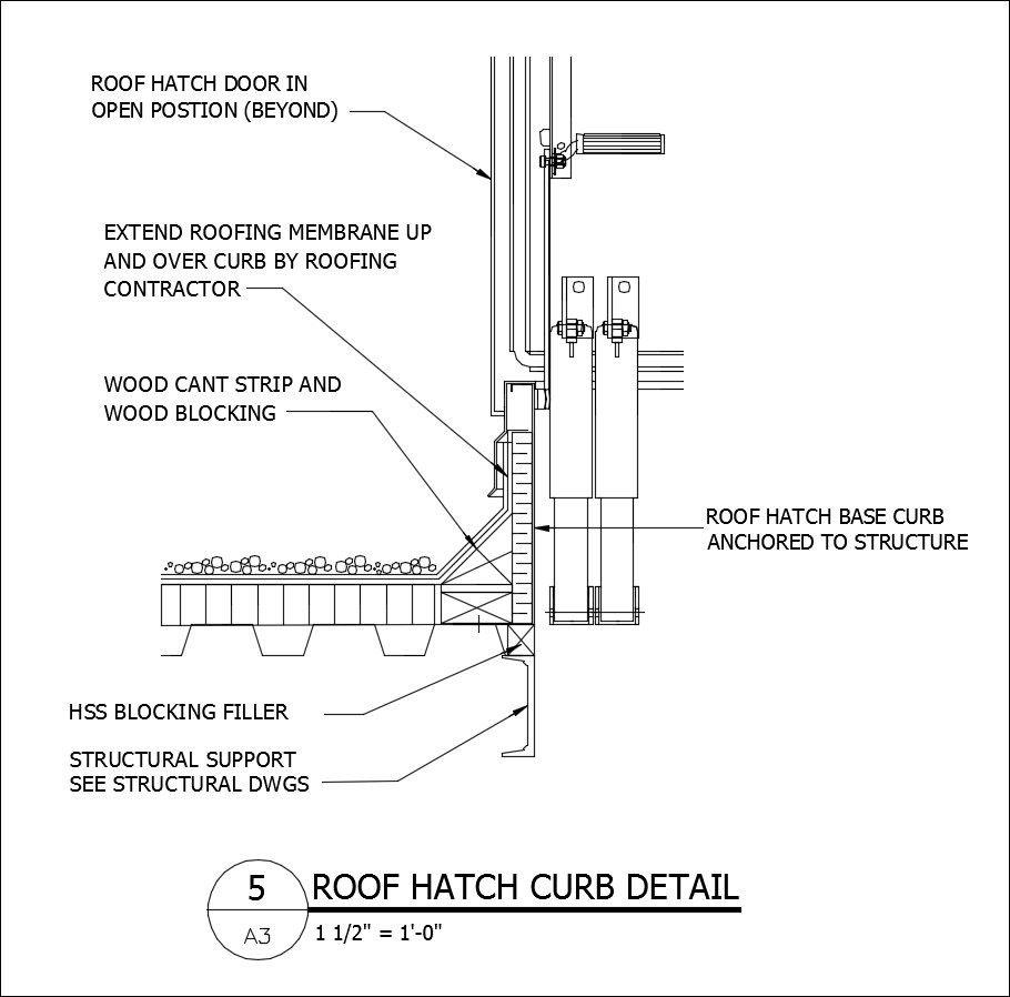 Free Cad Details Roof Hatch Curb Detail Cad Design
