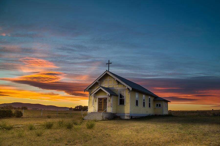 D Aste Church Near Charlo Montana By Mark Mesenko