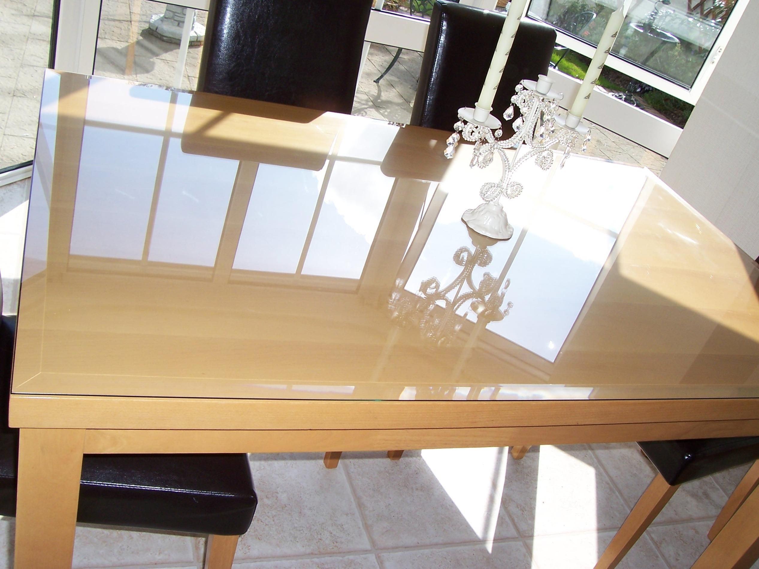 54 Round Plexiglass Table Top